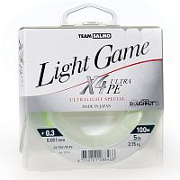 Леска плетёная Team Salmo LIGHT GAME Fine Green X4 100/005