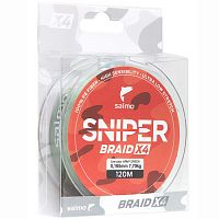 Леска плетёная Salmo Sniper BRAID Army Green 120/026